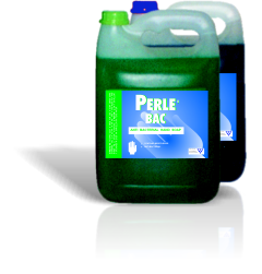 PERLEBAC 5LAnti-bacterial Hand Soap:- PERLEBAC BLUE UNPERFUMED- PERLEBAC GREEN - APPLE FRAGRANCE- CONTAINS MOISTURISER