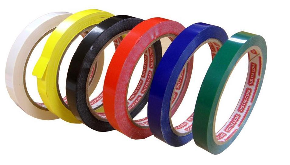 Available as follows: White, Yellow, Black,Red, Blue, Green. Size:Qty/ Box:12mm x 50m144