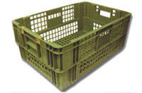 CRATE AM72VENTED:600x400x240mmAGRICULTURE/MEATSTACK - 8 FULL, 15 NESTINGCapacity - 30kg
