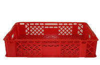 CRATE AM840VENTED BASE:600x400x128mmAGRICULTURE/MEAT